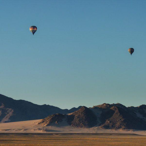 Hot air ballooning in Namibia